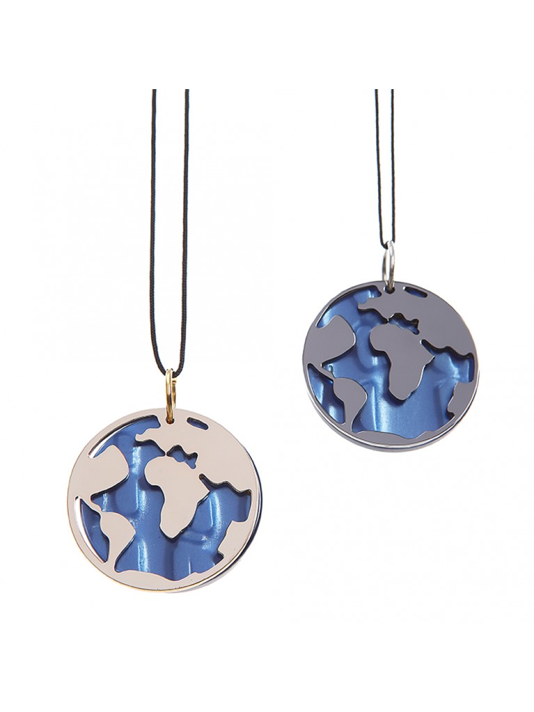 NECKLACE GLOBE BLUE OCEAN