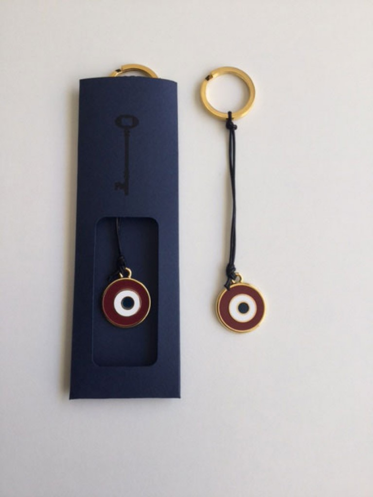 KEYRING WITH RED EYE