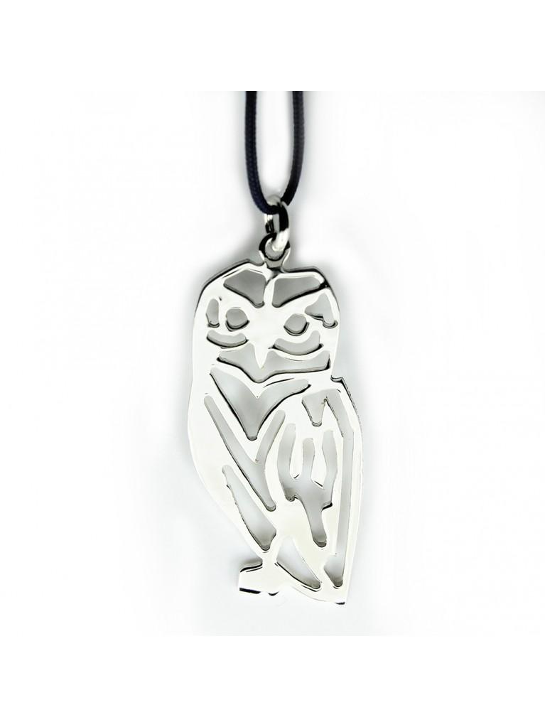 """SOFIA"" SILVER NECKLACE (OWL)"