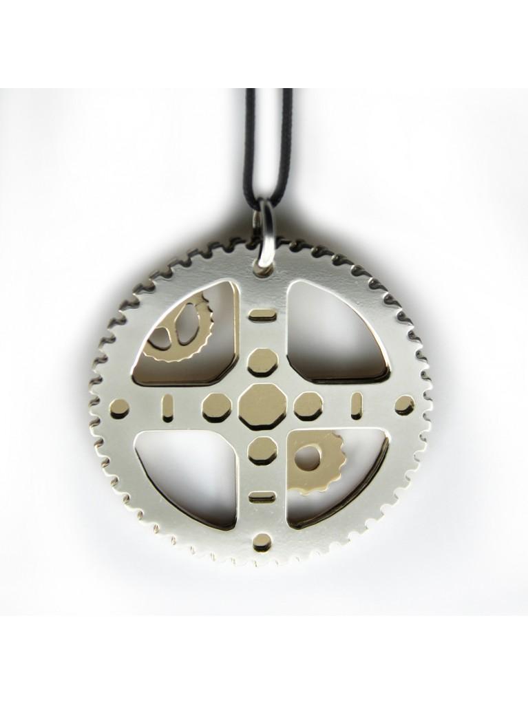 """EXELIXIS"" NECKLACE 3,5 CM GOLD-SILVER"