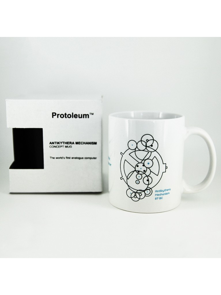 WHITE MUG - ANTIKYTHERA MECHANISM